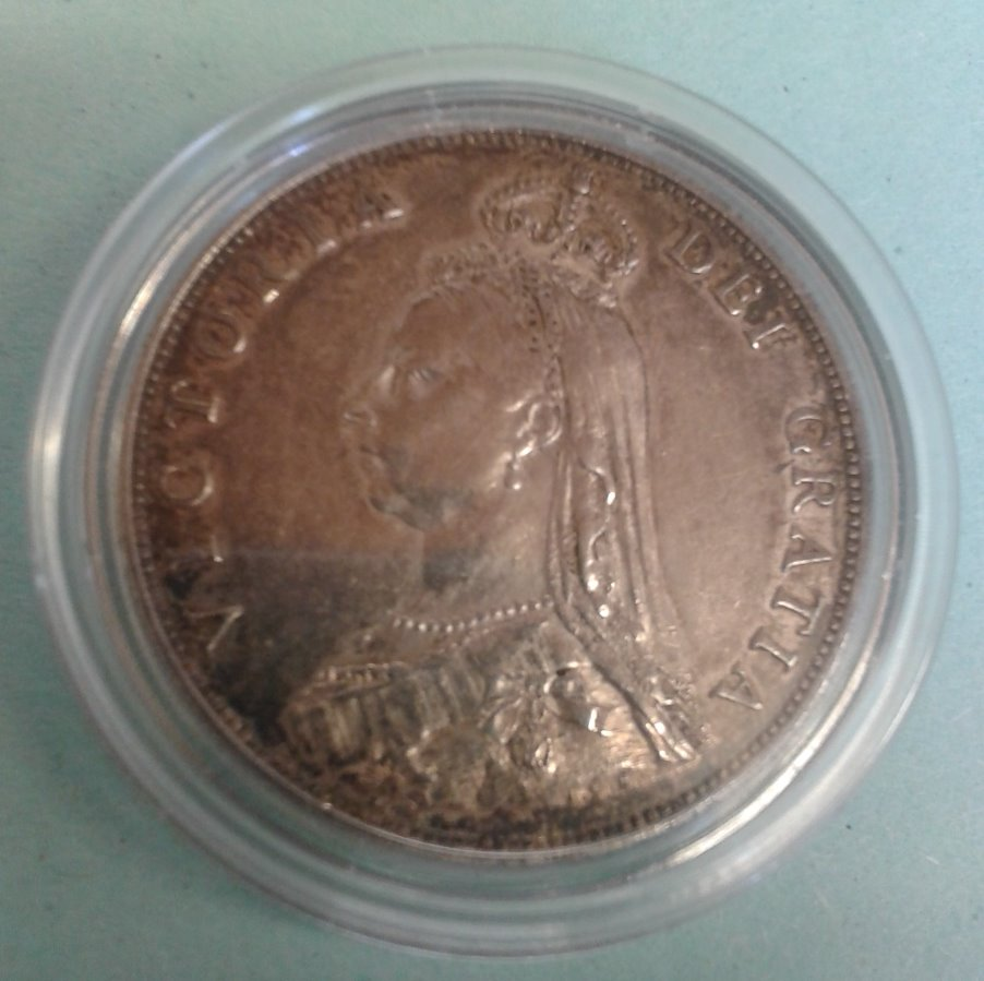 UK Florin: Dated 1887  Queen Victoria Dei Gratia  Silver